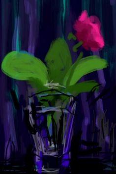 David Hockney iPhone drawing