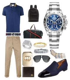 """Casual (Travel)"" by pitbull8382 on Polyvore featuring Gucci, Christian Louboutin, Perry Ellis and Rolex"