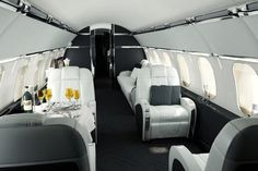Luxury Aircraft Interior by Tag Huer and Versace