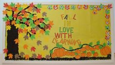 Fall In Love With Learning! - Fall Bulletin Board Idea
