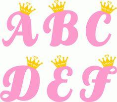 Silhouette Design Store: Princess Alphabet A-f Alphabet A, Disney Alphabet, Cute Letters, Letters And Numbers, Princess Font, Creative Lettering, Cricut Creations, Silhouette Design, Clip Art