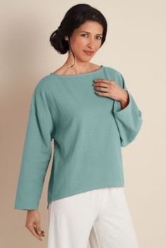 Gauze Pullover - Shirts, Tees, Misses' Clothing, Apparel | Soft Surroundings