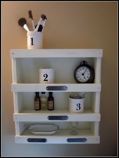 Cute DIY shelf.  Pottery barn knock off