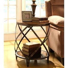Shop for Magnison Distressed Wood/ Metal Drum Shape Accent Table. Get free shipping at Overstock.com - Your Online Furniture Outlet Store! Get 5% in rewards with Club O!