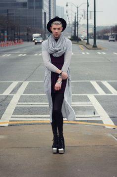 House Of Alexzander-Elliott Alexzander http://houseofalexzander.com/ - looking cute, androgynous fashion, silver storm