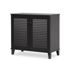 #Jane.com - #Wholesale Interiors Inc Dark Espresso Shoe Storage Cabinet - AdoreWe.com