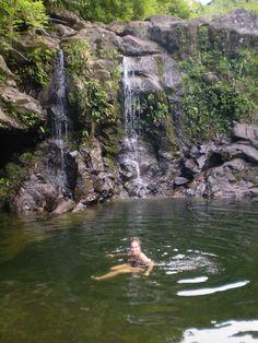 I love waterfalls, especially in Hawaii.