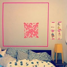 Masking tape can do alot for a room.
