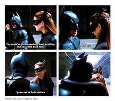 Even more reasons to be Batman.  I mean Anne Hathaway is probably my biggest celebrity crush.