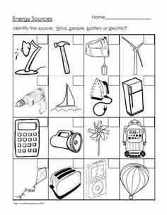 Lots of Energy worksheet printables (Free!!)| worksheet ...