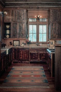 McKenna Mountain Retreat - Kitchen (love the cabinet wood)