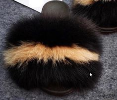 (1) Summer multicoloured Fox Fur Slippers Real Fur Slides Female Indoor Fl – slipper&sandal wholesale Slipper Sandals, Fur Slides, Fox Fur, Fashion Shoes, Winter Hats, Plush, Slippers, Indoor, Flat