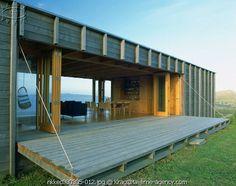 this wall drops open to become a deck.  Genius.  (via my scandinavian retreat)