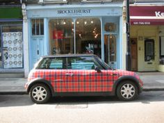 A tartan Mini Cooper - would totes drive this. National Tartan Day, Mini Driver, Best Swimming, Scottish Tartans, Scottish Kilts, Mini Cooper S, Swimming Pool Designs, Mini Things, Cute Cars