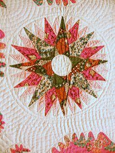 close up, Rising Sun motif, ca 1840.  Newark Museum.  Photo by Barbara D. Schaffer