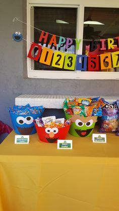 Best Ideas For Birthday Themes Boy Sesame Streets themes Elmo First Birthday, Birthday Themes For Boys, Monster Birthday Parties, First Birthday Parties, Birthday Party Themes, Elmo Party Favors, Second Birthday Ideas, Batman Birthday, Party Hats