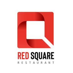 Logo Design Restaurant Red Square Creation of the visual identity for Red Square Restaurant include : Logo design Restaurant Red Square, Business Cars Signage Visual Identity, Brand Identity, Branding, Graphic Design Studio, Restaurant Logo Design, Logo Inspiration, Graphic Illustration, Signage