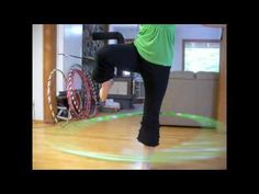how to hoop on one leg and get your legs in and out of the hoop hooping tutorial