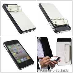 iPhone case with paper binder. Never seen this combination before.