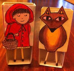 Little Red Riding Hood matchbox characters!