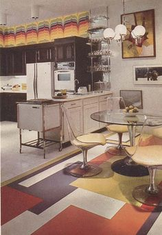 1975 Better Homes and Gardens. Chrome craft dining set, we have the same one in grey!