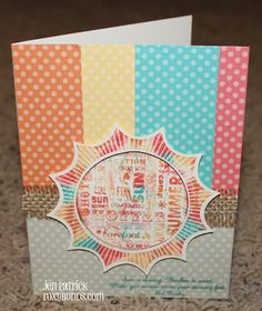 Roxybonds Close To My Heart CTMH consultant : CTMH--Stamp of the Month Blog Hop- My Sunshine