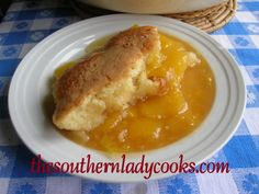 Peach Cobbler-This one is made with fresh peaches.