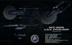 Excelsior class ortho - USS Excelsior by unusualsuspex.deviantart.com on @DeviantArt
