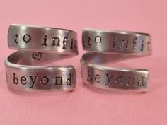 To Infinity And Beyond   Friendship Rings  by FamilyHouseStampin, $20.00