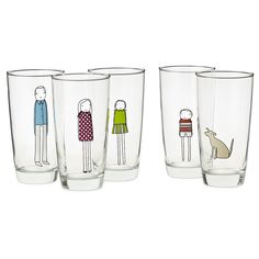 FAMILY GLASSWARE | Personalized Drinking Glasses | UncommonGoods @UncommonGoods