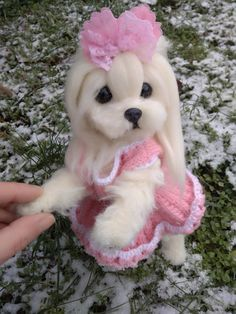 OOAK Needle felted Maltese puppy/dog | Dolls & Bears, Bears, Artist | eBay!