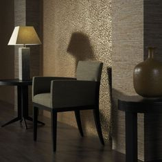 Wallcovering from Omexco, Akoya, Goodrich Luxury Wallpaper, Gras, Autumn Inspiration, Modern Decor, Home Improvement, Colours, Chair, Design, Furniture