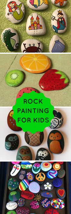 rock painting ideas for kids...lovely ideas collected from nrtville...#rockpainting  #craftsforkids #kidscrafts