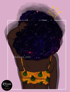 Home - Kaizeea Artz- A Daydreamer that creates from Love, Soul and the Guided Spirits. Black Girl Art, Black Art, Art Girl, Afro Style, Black Characters, African Artists, Goddess Of Love, Art Corner, Afro Art