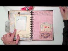 One of my favorites. Love the paper too Art Journal Tutorial, Mini Album Tutorial, Smash Book Inspiration, Art Journal Inspiration, Mini Scrapbook Albums, Mini Albums, Journal Cards, Junk Journal, Heidi Swapp