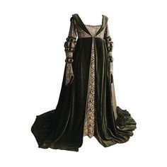 Tumblr ❤ liked on Polyvore featuring dresses, gowns, medieval, costume and period dresses