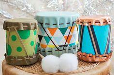 Como hacer tambores con latas recicladas | Manualidades con Reciclado