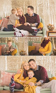 Holiday Mini Sessions | Mid-Century Cozy on the Couch » StudioMoirae.com