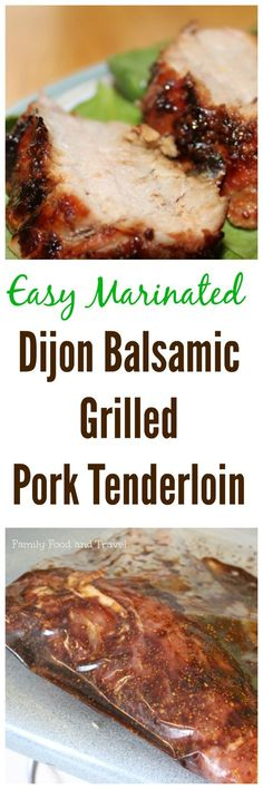 Dijon Balsamic Grilled Pork Tenderloin is a great recipe just in time for warmer weather BBQ Recipes Pork Recipes Pork Loin Recipe Grilling Recipes Recipe for the gr. Meat Recipes, Paleo Recipes, Cooking Recipes, Recipes Dinner, Dishes Recipes, Dinner Dishes, Barbecue Recipes Meat, Simple Pork Recipes, Easy Grill Recipes