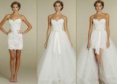 Vestidos de Noiva curto para mini-weddings ou casamento civil   Inspirações.