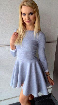 Sukienka dresowa Fountaine Short (biały spód) w StoneSkirts na DaWanda.com