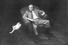 Jorge Luis Borges y su gato