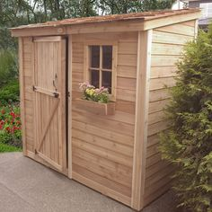And I'd take this storage shed for all my gardening tools in heartbeat!