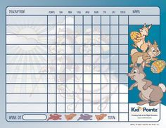 Kids Behavior Charts | Bunnies Theme| Kid Pointz
