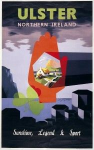 Ulster Northern Ireland Irish Travel Poster