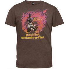 Street Fighter – Pacifist T-Shirt  http://www.beststreetstyle.com/street-fighter-pacifist-t-shirt/