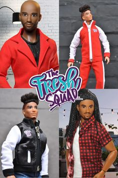 Shop our latest African American and multiracial male dolls from The Fresh Squad. They come with the latest hair and clothing trends. From curly hair, a bald head to long braided locks. Great to add to any doll lovers collection!