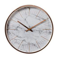 Marble Copper Clock 30cm