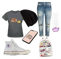 """""""Untitled #29"""" by darianna-lascano on Polyvore featuring Pusheen, Converse, Anya Hindmarch and Rick Owens"""