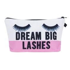 Drashes Dream Big Lashes 3D Print Cosmetic Bags